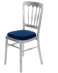 Hire silver banqueting chairs