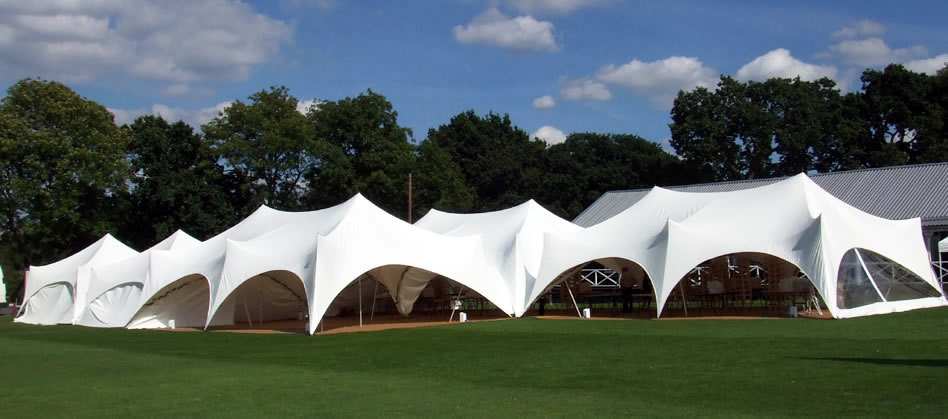 Versatile Out Is In Capri marquees used for corporate event at Dulwich Rugby Club