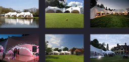 Images of marquees by Out Is In