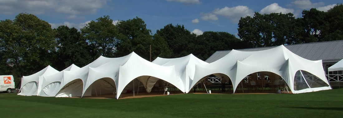 Large Capri marquee & Corporate event marquee hire for London Surrey Sussex and Kent