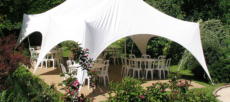 Out Is In marquee used for a golden wedding in Crawley West Sussex